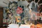 Photo wallpaper in bedroom